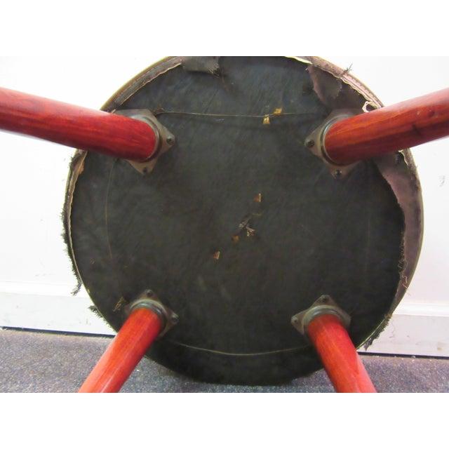 Danish Modern Atomic Splayed Legs Vinyl Stool - Image 10 of 11