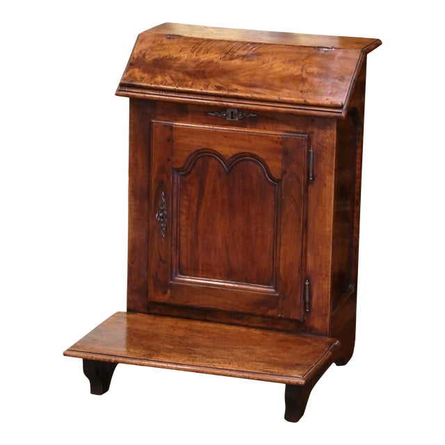 Mid-19th Century French Louis XIII Carved Walnut Prie-Dieu Prayer Kneeler For Sale