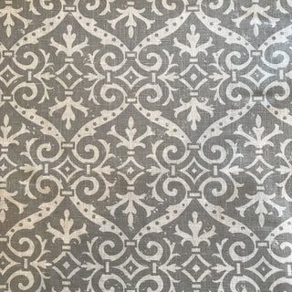 Quadrille French Damask Gray on Tint Fabric For Sale