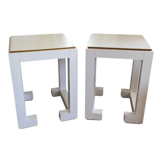 Chelsea House White Side Tables - A Pair