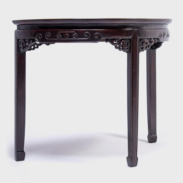 Mid 19th Century 19th Century Chinese Demi-Lune Table For Sale - Image 5 of 8