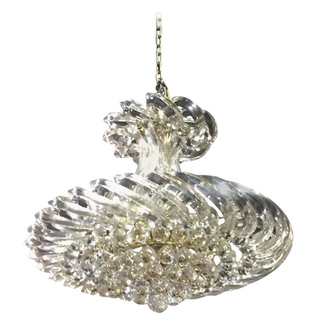 Mid Century Lucite and Decorative Balls Chandelier - A Pair For Sale