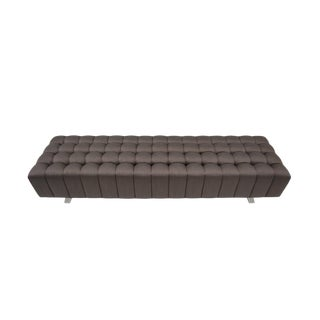 Abyss Bench Brown Deep Tufted Bench For Sale