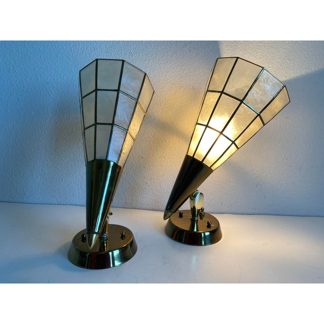 Feldman Capiz Wall Lights - a Pair For Sale In Austin - Image 6 of 11