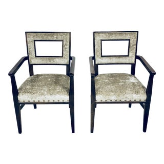 Modern Fairfield Arm Chairs- A Pair For Sale