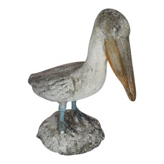 Mid 20th Century Vintage French Concrete Pelican For Sale