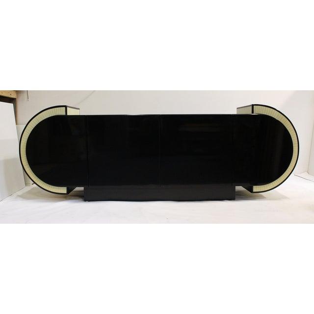 Pierre Cardin Style Black Modern Four-Door Buffet - Image 2 of 10