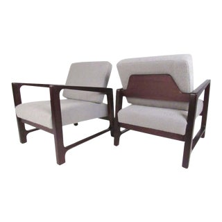 Mid-Century Modern Harvey Probber Lounge Chairs in Rosewood - a Pair For Sale