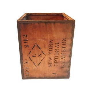 Vintage New York Shipping Crate