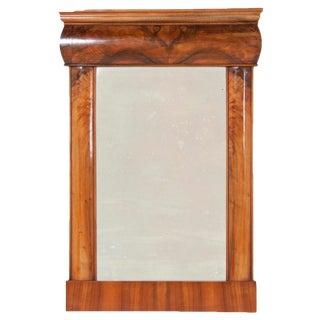 19th Century Walnut Biedermeier Mirror For Sale