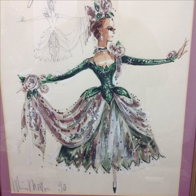 "Original Winn Morton Gown Design ""Rose Garden"" For Sale - Image 4 of 7"