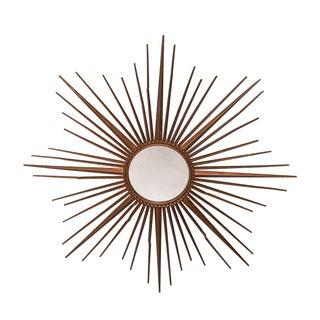 French Vintage Starburst Mirror For Sale