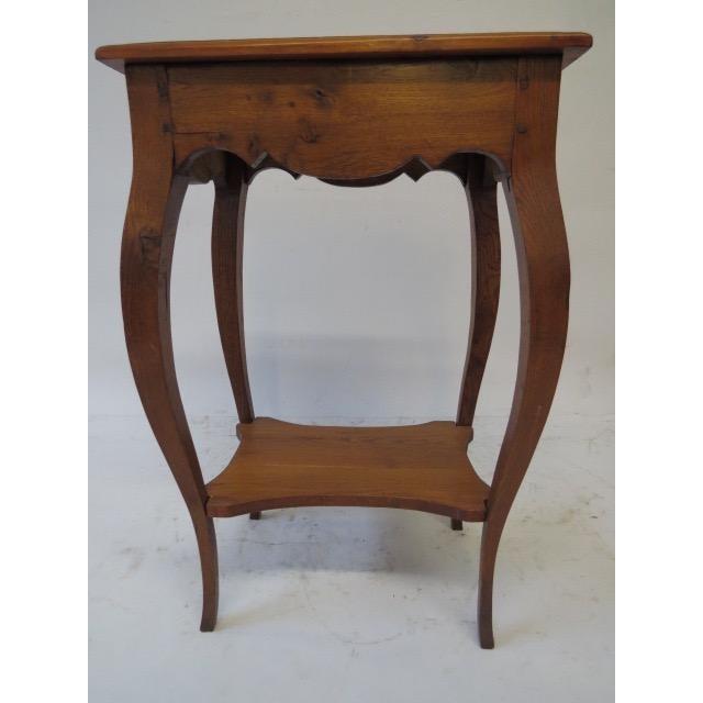 Antique Oak Side Table - Image 6 of 7