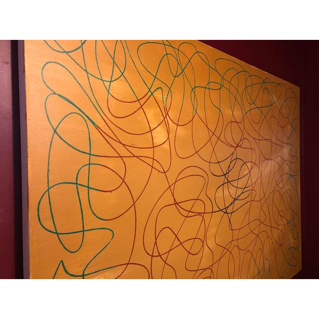 """Acrylic Painting by Artist Troy Smith - 60"""" X 84"""" Contemporary Art - Abstraction For Sale - Image 9 of 13"""
