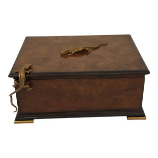 Traditional Theodore Alexander Walnut Decorative Box
