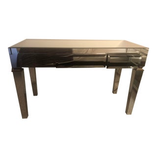 Worlds Away Mirrored Jacklyn Desk Vanity For Sale