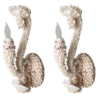 Shell Art Sconces - a Pair For Sale