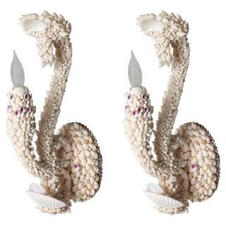 Shell Art Sconces - a Pair For Sale
