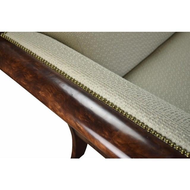 Green 2000's William Switzer Classic Austrian Biedermeier Style Sofa For Sale - Image 8 of 10