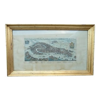 1980s Venice Framed Map Print For Sale