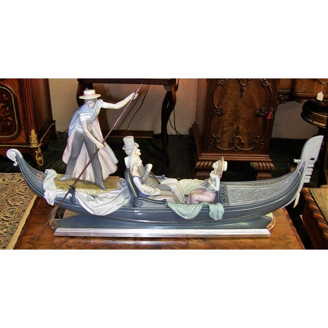 Ceramic Lladro in the Gondola Signed by Catala and Ruiz For Sale - Image 7 of 10