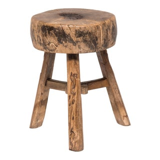 19th Century Chinese Cabbage Block Stool For Sale