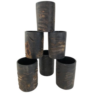 Set of Six Natural Horn Cups For Sale