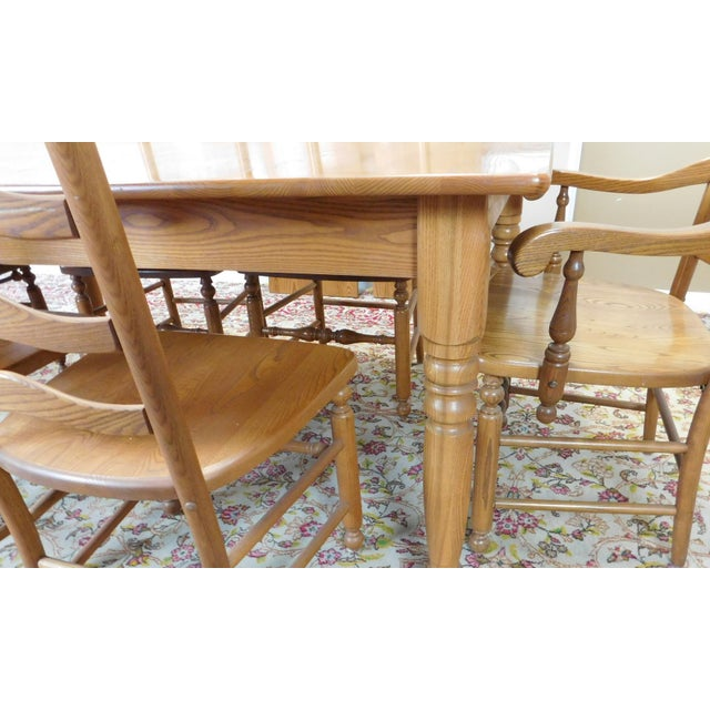 Kitchen Table With 6 Chairs: S. Bent Bros. Solid Oak Dining Set