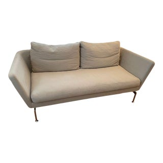 Vitra Contemporary Small Sofa in Oatmeal For Sale