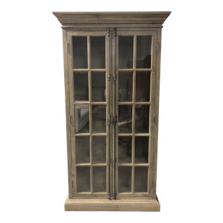 Restoration Hardware French Casement Double-Door Cabinet For Sale