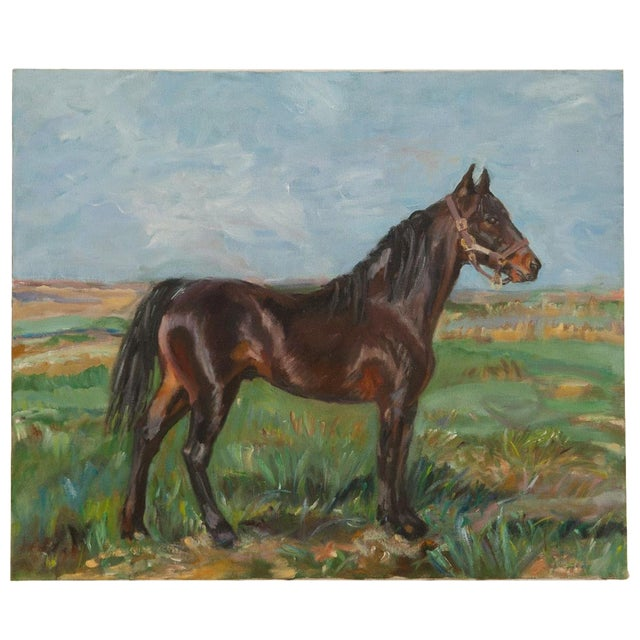 """Grace B. Keogh """"Brown Horse"""" Painting For Sale"""