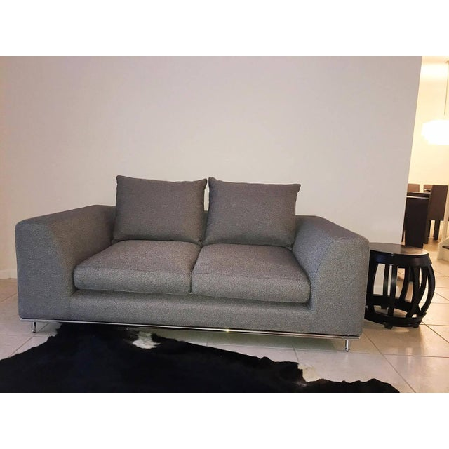 Prime Carlos Perazzi Hanna Gray Loveseat Pabps2019 Chair Design Images Pabps2019Com