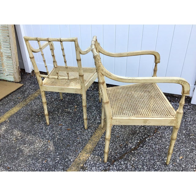 Faux Bamboo Chippendale Style Armchairs - a Pair For Sale - Image 10 of 13