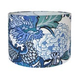 Image of China Blue Chiang Mai Dragon Drum Shade For Sale