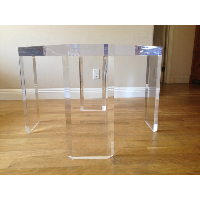 Charles Hollis Jones Vintage Lucite Side Table - Image 4 of 7
