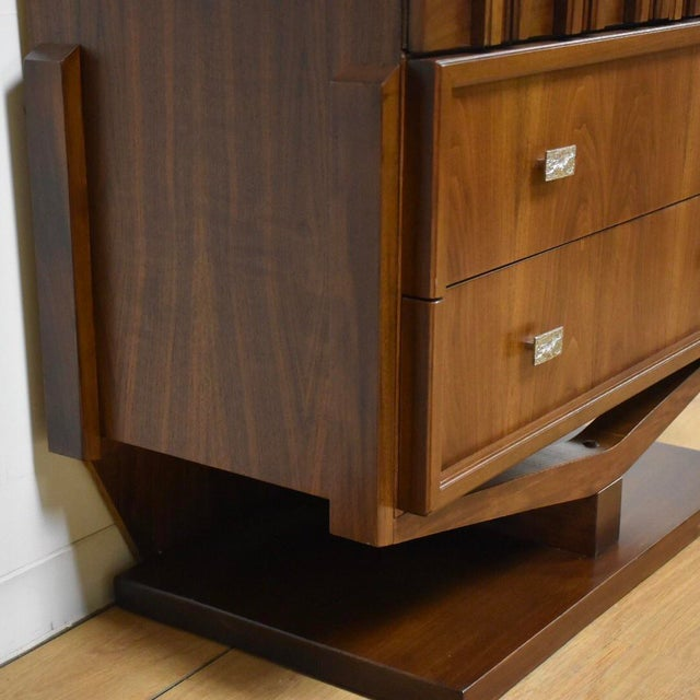 Brutalist Walnut Armoire - Image 6 of 11
