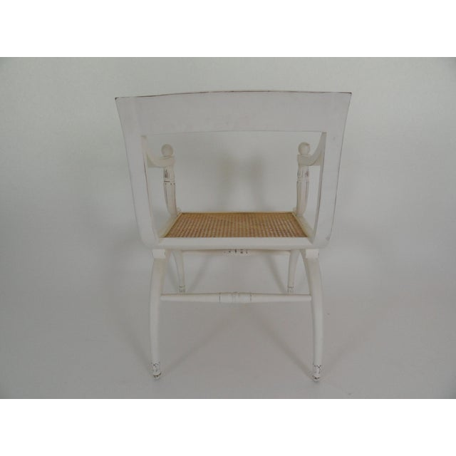 1970s Vintage Regency Style Cane Seat Chair For Sale - Image 4 of 9