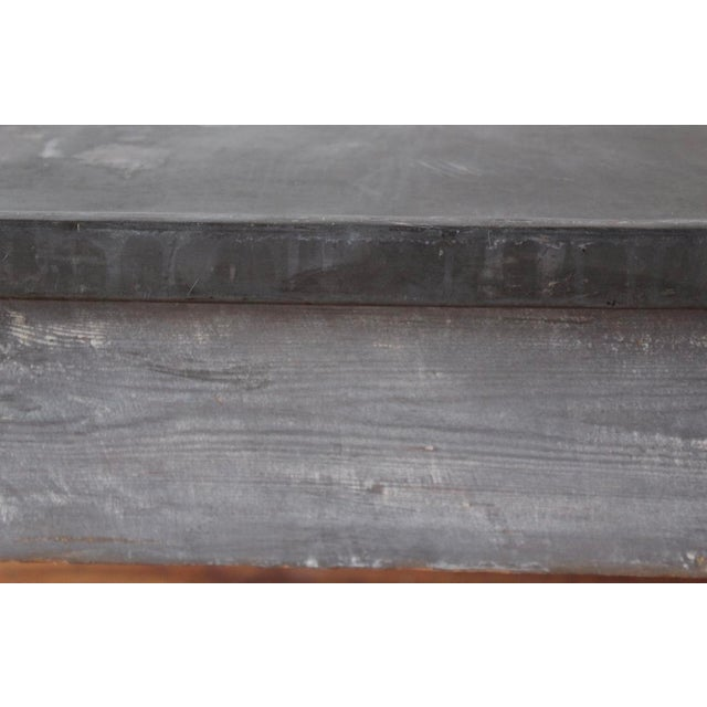 Antique French Zinc Work Table For Sale - Image 6 of 7