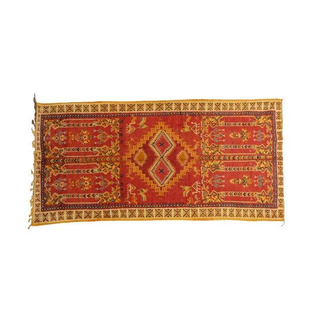 "Boho Chic Taznakht Moroccan Rug, 5'3"" X 10'5"" Feet For Sale - Image 3 of 6"