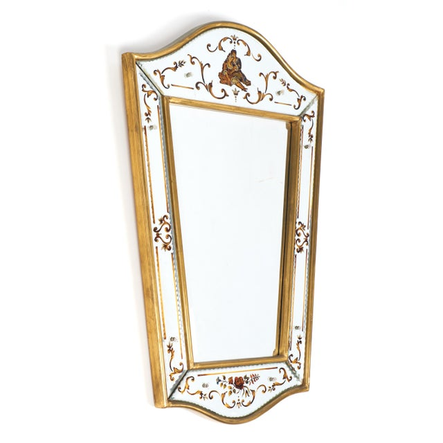 French Vintage French Eglomisé Mirror For Sale - Image 3 of 10