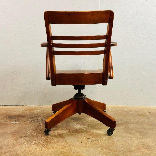 Mid Century Modern Walnut Office Chair Chairish