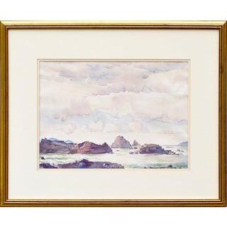 "William Ross Cameron ""Rock Bound Coast"" Carmel Landscape Circa 1930 For Sale"