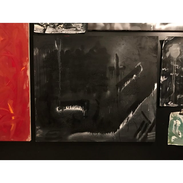 """Modern """"Smiles From Up North"""" Mixed Media on Canvas - Marcus Sisler For Sale - Image 3 of 4"""