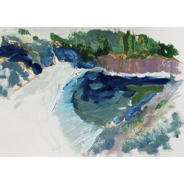 Paper 'Hidden Cove, Big Sur' by Robert Canete, Post-Impressionst California Seascape For Sale - Image 7 of 7