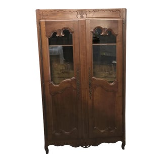 French Antique Walnut Armoire For Sale