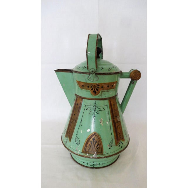 Shabby Chic 19th Century Toleware Water Kettle For Sale - Image 3 of 9