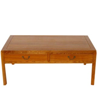 Ming Dynasty Elm Two Drawers Coffee Table For Sale