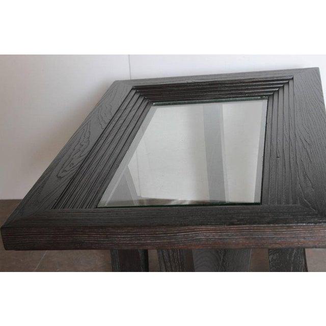 Post Art Deco Cerused Oak Side Table by Brown Saltman Paul Frankl For Sale - Image 9 of 11