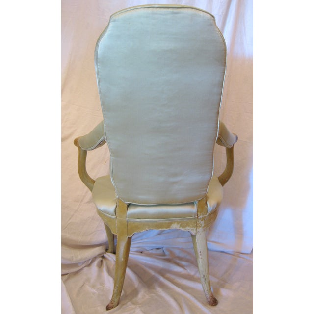 Pale Green Painted Victorian Armchair - Image 4 of 7