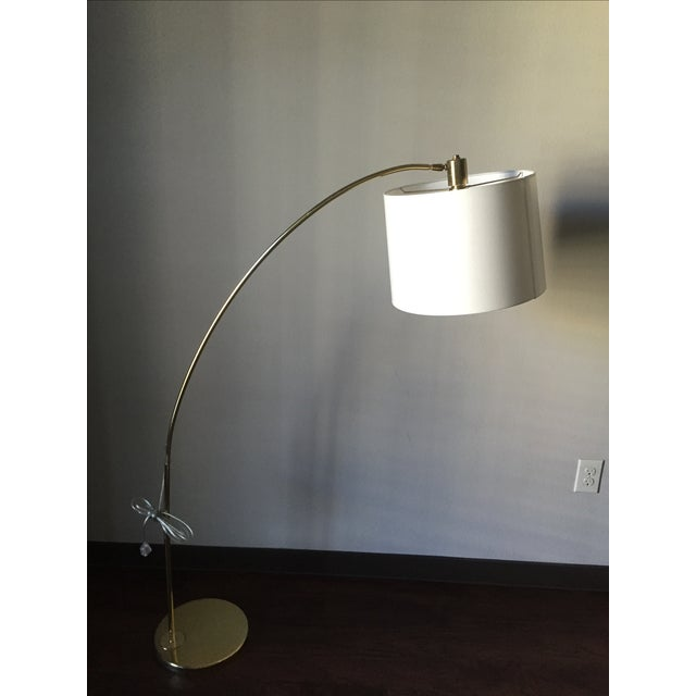 Vintage Brass Arc Style Floor Lamp - Image 2 of 5